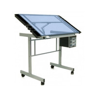 Glass Craft Table Desk Architect Draft Draw Studio Adjustable Paint Color Sew