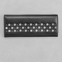 & Other Stories | Studded Leather Wallet | Black