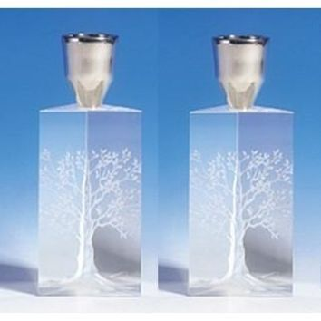 Crystal Candle Holders For Shabbat