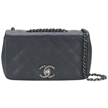 Chanel Two Tone Leather Flap Bag