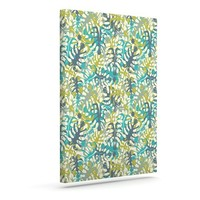 "Kess InHouse Julia Grifol ""Tropical Leaves"" Outdoor Canvas Wall Art, 24 by 30-Inch"