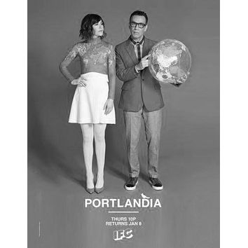 "Portlandia Poster Black and White Poster 24""x36"""
