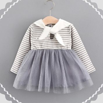Bunny Striped Adorable Children Dress