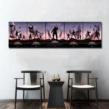 Avengers Infinity War SuperHeros Character Movie Wall Art Wall Decor Silk Prints Art Poster Paintings For Living Room No Frame