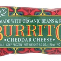 AMY'S: Beans & Rice Cheddar Cheese Burrito, 6 Oz