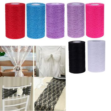 15cm/25Yards Lace Tulle Roll Fabric Spool