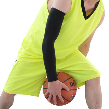 basketball hand sleeve Sports Cover Hand Arm Elbow Protector Gear Basketball Football Long Sleeves EA14