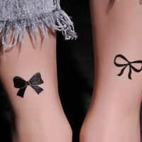 36 styles of bow and chiritams bell Temporary Tattoo Long lasting tattoo Transfer Stickers Body art Strickers fake tattoo