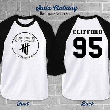 Michael Clifford 95 Shirt 5sos 5 seconds of summer T-Shirt / White Color Shirt / 3/4 Baseball Shirt / Unisex S M L