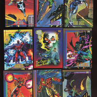 Vintage 1993 SkyBox Marvel Super Heros lot of 9 cards, Add to your Collection, Very Good Condition