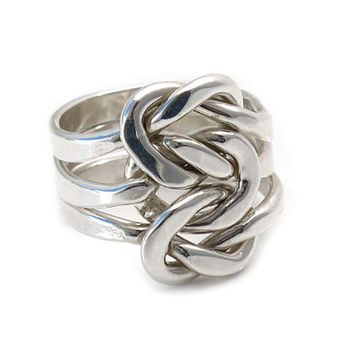 Sterling silver rings | Triple Knot | Taxco handmade silver jewelry | Mexico | 925 | High quality sterling silver | Mexican art | 0226