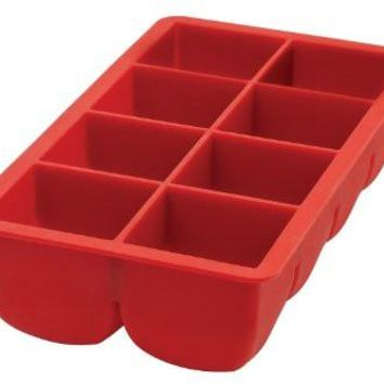 Big Block Large Cubes Silicone Ice CubeTray - Red
