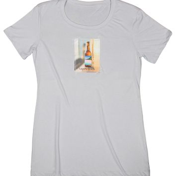 Microbrewery: Women's Nature Amour Beer Bottle T-shirt, Silver