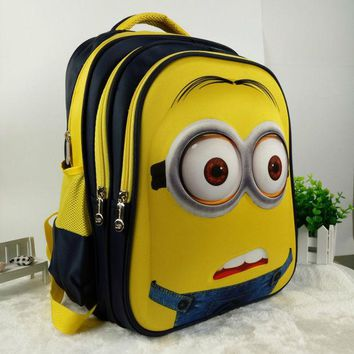 VONC1Y 16 inch New Fashion Despicable Me 2 Kids Cartoon school bags child Backpack Minions schoolbag 6-12Y Kids cute bags