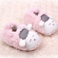 Infant Soft Slipper Crib Shoes Lovely Baby Boys Girls Winter Warm Plush Booties