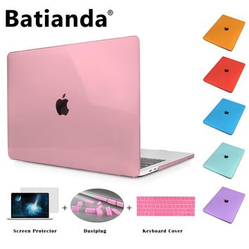 "Crystal Hard Folio Case Cover for MacBook Pro 12 13 15 inch Air 11.6 13.3 Retina Display 2016 2017 Touch Bar Sleeve Pro 13"" 15"""