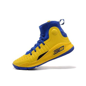 Best Deal Under Armour UA Men's SC30 Stephen Curry 4 Blue Gold Sport Sneaker