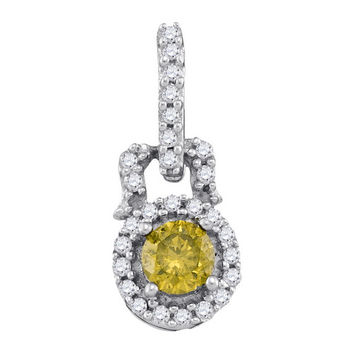 Diamond Fashion Pendant in 10k White Gold 0.25 ctw