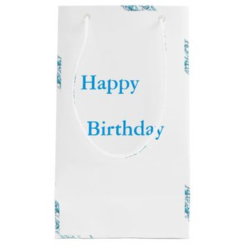 Border 1 blue small gift bag