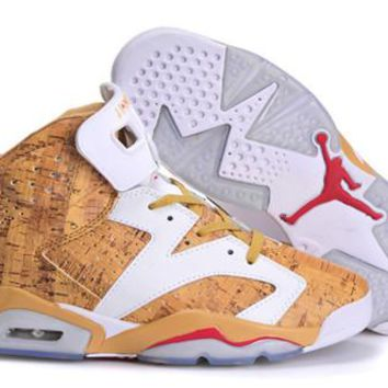 Hot Nike Air Jordan 6 Retro Women Shoes 1st Ring Yellow White