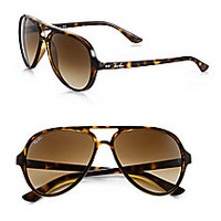 Ray-Ban - Iconic Cats 5000 Aviator Sunglasses - Saks Fifth Avenue Mobile