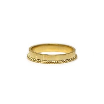 9kt Gold A Tale of Two Gold Band
