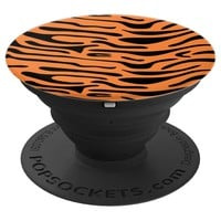 Tiger Print Black Orange - PopSockets Grip and Stand for Phones and Tablets