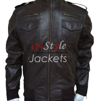 Brown Leather Brooklyn Nine Nine Jacket – In Style Jackets