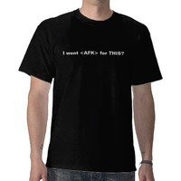 I went  for THIS? T Shirt from Zazzle.com