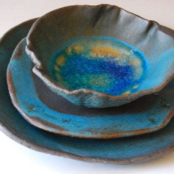 Handmade ceramic plates, Wedding gifts, from christianesutherland
