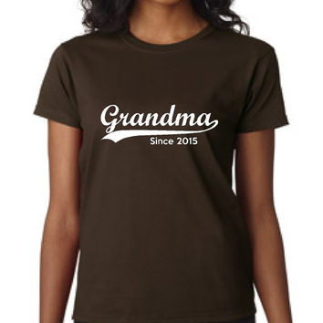 Custom Grandma T Shirt Grandma Since 2016 Shirt Makes Great Shirt for grandma, mimi nana fun shirt mothers day mother to be grandma to be