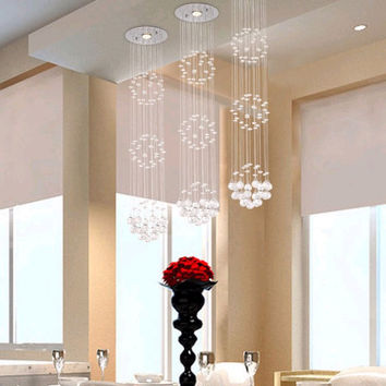 modern crystal chandelier Crystal Chandelier Modern and simple crystal light Ceiling Lamp Crystal Pendant Lamp living room lamps