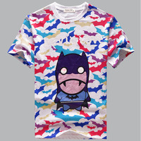 Summer Short Sleeve Strong Character Round-neck Stylish Print Couple T-shirts [6542296835]