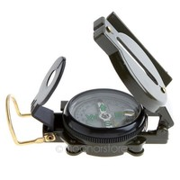Portable Army Green Folding Lens Compass American Military Multifunction New