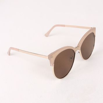 Tinted Round Clubmaster Sunglasses