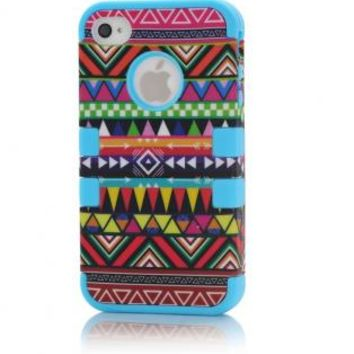 3-Piece Tribe Pattern Silicone Case For Apple iPhone 4/4S
