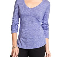 Old Navy Womens Relaxed Slub Knit V Neck Tees