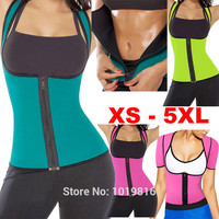 plus size women sweat enhancing waist training corset cincher waist trainer sauna suit Sport vest hot shaper body sport top E12B