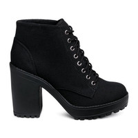 Canvas Platform Boots - from H&M