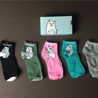 5pcs RIPNDIP cozy winter warm socks