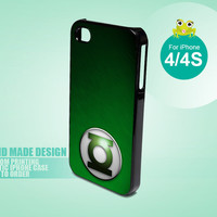 HP474 green lantern logo - iPhone 4 / 4s Black Case