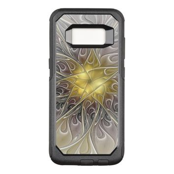 Flourish With Gold Modern Abstract Fractal Flower OtterBox Commuter Samsung Galaxy S8 Case