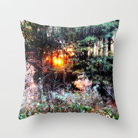 Where Fairies Live Landscape revisited Throw Pillow by 2sweet4words Designs | Society6
