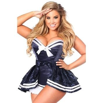 Daisy Top Drawer 4 PC Navy Sailor Corset Costume