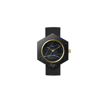 Black Marble Hex Body Watch