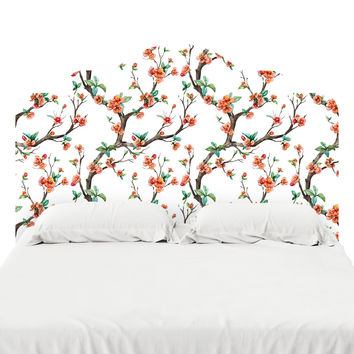 Cheery Cherry Blossom Headboard Decal