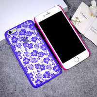 Lace Clover Leaf Case Cover for iPhone 5s 6 6s Plus Gift