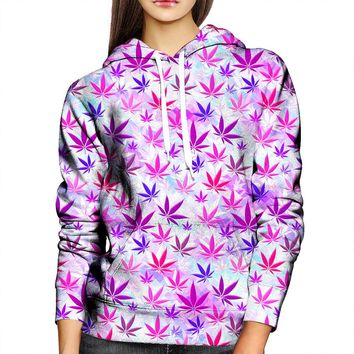 Colorful Weed Womens Hoodie