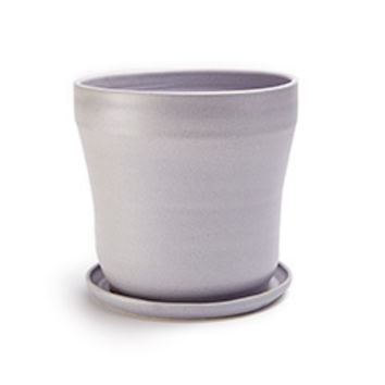 Hand Thrown Ceramic Planter (Grey)