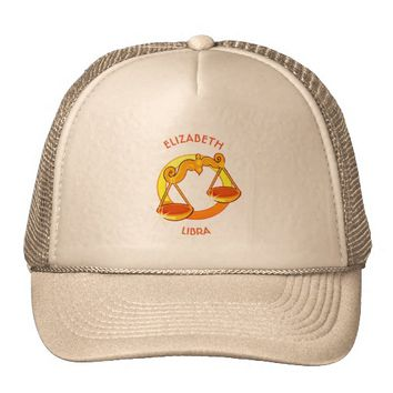 Libra Zodiac Birthday Sign With Your Custom Name Trucker Hat